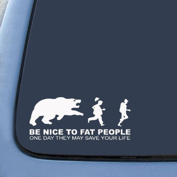Bargainmax Nice Fat People - Save Life Sticker Decal Notebook Car Laptop 8