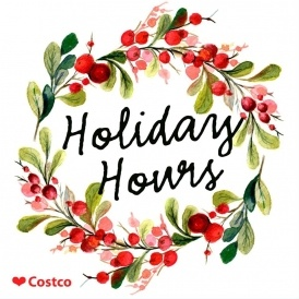 Costco Warehouse Holiday Shopping Hours Begin