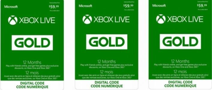 12 Month Xbox Live Gold Membership 4499 Costco Canada