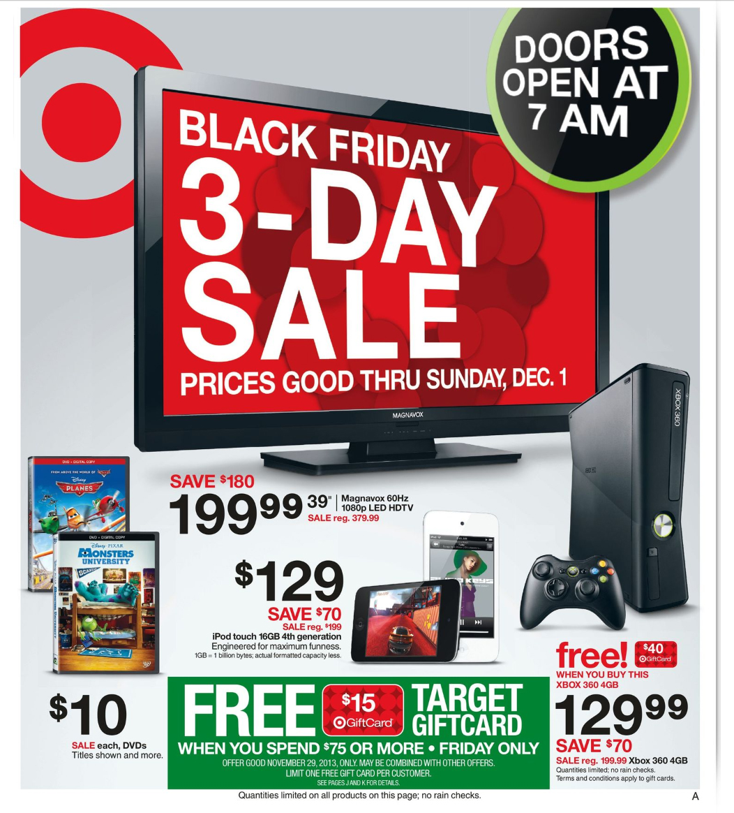 Target Canada Black Friday Flyer Deals