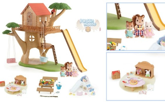 Calico Critters Adventure Treehouse Gift Set Was 140