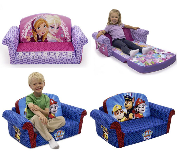 frozen flip sofa canada grey corner with swivel chair marshmallow open sofas for only 40 walmart paw patrol dora etc