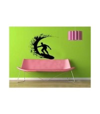 Surfer as wall art sticker, wall decal for wall decor.