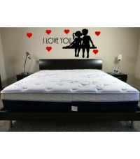 I love you romantic wall decal, I love you bedroom wall ...