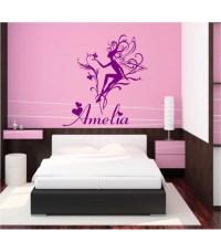Fairy personalised girls bedroom wall art, kids bedroom ...