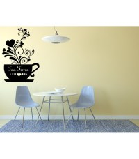 Tea Time kitchen wall decals cup of tea decorative wall ...