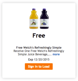free welchs juice kroger