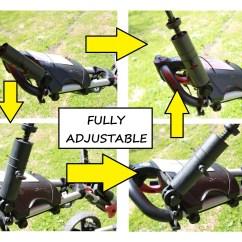 Wheelchair Gst Eddie Bauer High Chair Pad Universal Golf Umbrella Holder For Buggy Cart Baby Pram