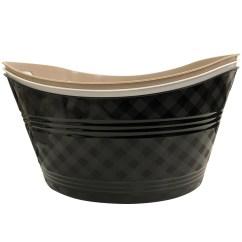 Kitchen Serving Cart Ikea Stainless Steel Shelves For Momentum Brands Oval Tub | Bulk Case Pack 24 Bargain ...