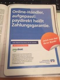 Printwerbung für Paydirekt