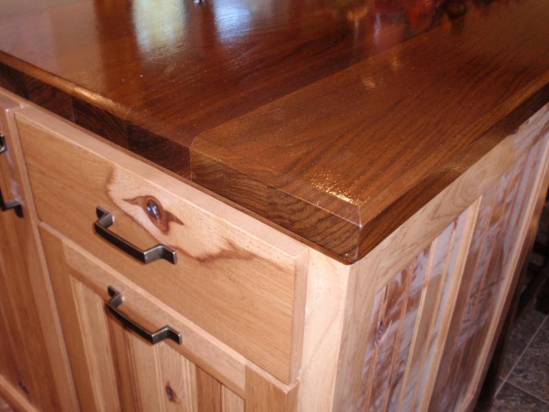 rustic hickory kitchen cabinets corner cabinet ideas barhorst woodworks
