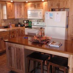 Rustic Kitchen Cabinet Ikea Table Set Hickory Cabinets Barhorst Woodworks