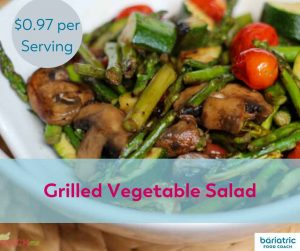 Bariatric Meals on a Budget: Grilled Vegetable Salad