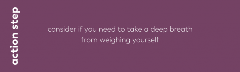 blog image action step consider if you need to take a deep breath from weighing youself. take a deep breath blog series part two bariatric food coach