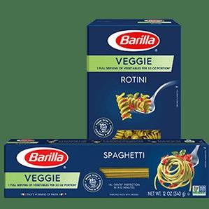 Barilla veggie pasta packages