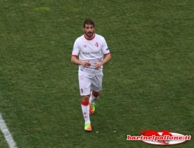 Francesco Brienza al momento della sua uscita dal campo oggi contro la Ternana