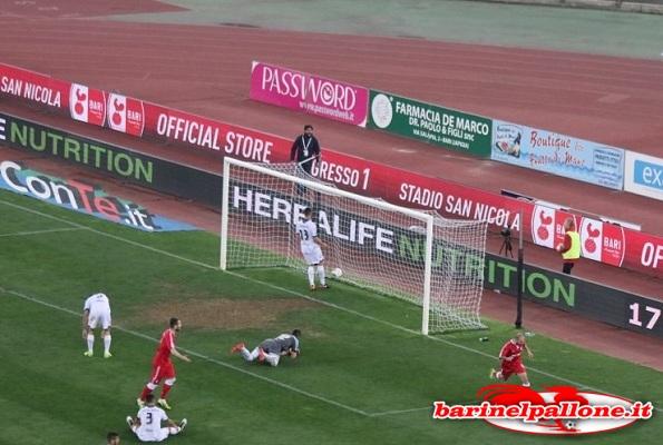 Il gol di Galano che ha sbloccato la gara contro il Latina
