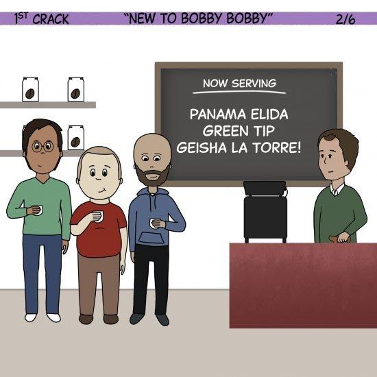 1er cómic de Crack Coffee 1 de mayo de 2021 Panel 2