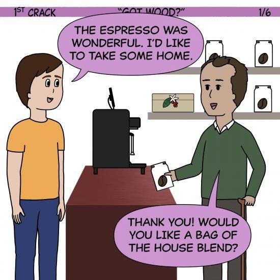 Primer cómic de Crack a Coffee para el 13 de mayo de 2021 Panel 1