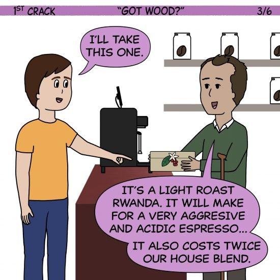 Primer cómic de Crack a Coffee para el 13 de mayo de 2021 Panel 3