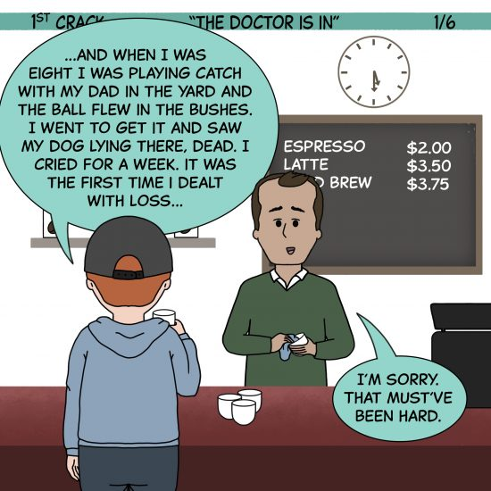 1st Crack Coffee Comic 5 de junio de 2021 Panel 1