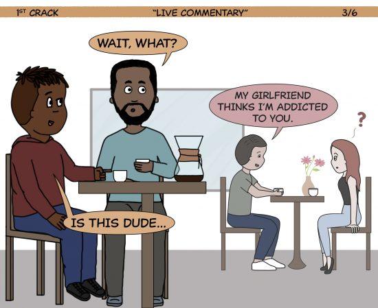 Primer cómic de Crack a Coffee para el fin de semana - 19 de junio de 2021 Panel 3