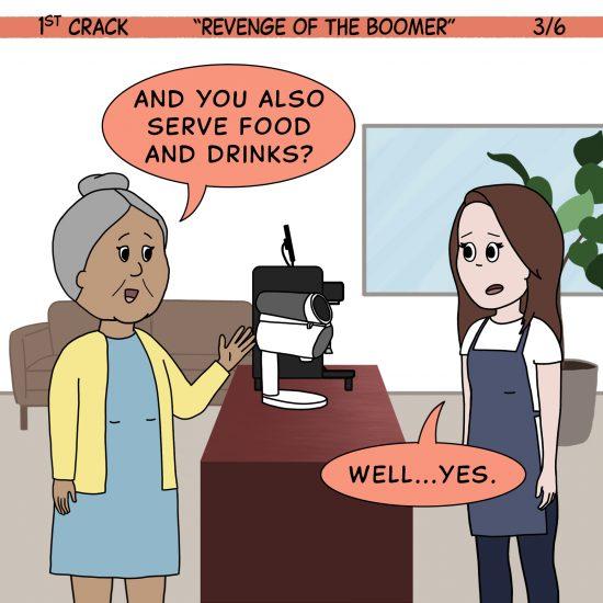 Primer cómic de Crack a Coffee para el fin de semana - 17 de julio de 2021 Panel 3