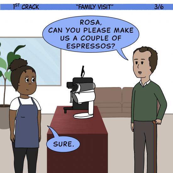 Primer cómic de Crack a Coffee para el fin de semana - 24 de julio de 2021 Panel 3