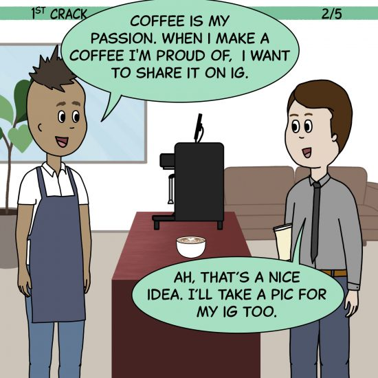 Primer cómic de Crack a Coffee para el fin de semana - 11 de septiembre de 2021 Panel 2
