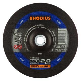 Rhodius FTK 33 tip. vágókorong acélhoz 230 X 22.2 X 2.0 Minden termék
