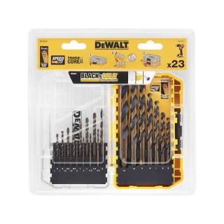 DeWALT Black&Gold furószárkészlet 23 db-os Fúrás