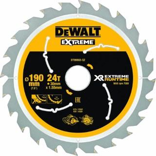 DeWALT XR Flexvolt körfűrészlap 190x30mm 24T DT99562-QZ Minden termék