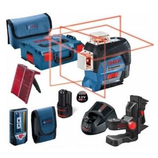 BOSCH GLL 3-80 C Akkus vonallézer + BM1 falitartó +LR 7 vevőegység L-Boxx-ban Minden termék