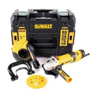 DeWALT DWE4257KT Fordulatszám szabályzós sarokcsiszoló, betoncsiszoló lágy indítással 1500W/125mm Minden termék
