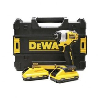 DeWALT DCF809L2T-QW Szénkefementes akkus ütvecsavarozó TSTAK kofferben (1/4″ 190Nm) (2×3,0Ah/18 Minden termék