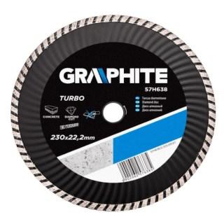 GRAPHITE gyémánt vágótárcsa 230 mm turbó hűtőbord. Minden termék