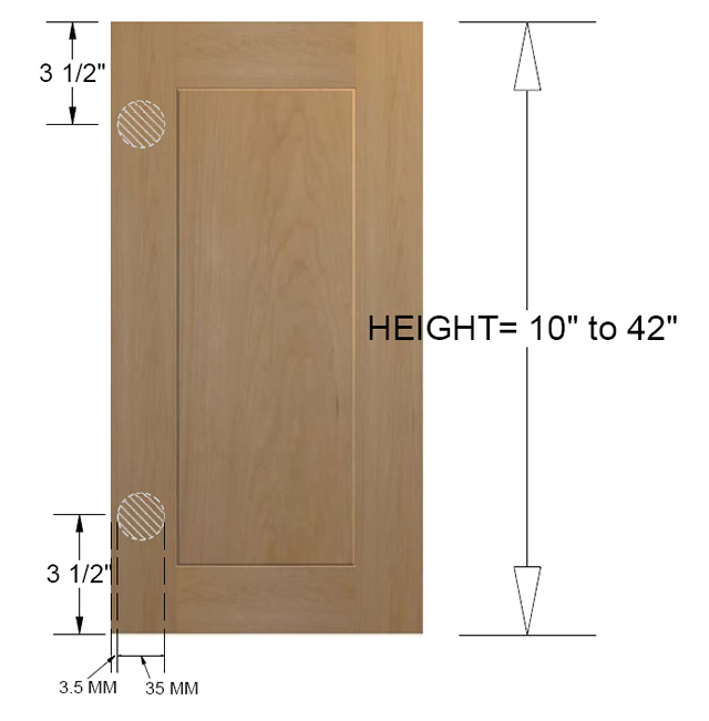 Hinge Placement On Kitchen Cabinet Doors