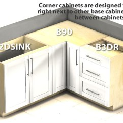 Kitchen Corner Cabinet Cabinets On A Budget Base