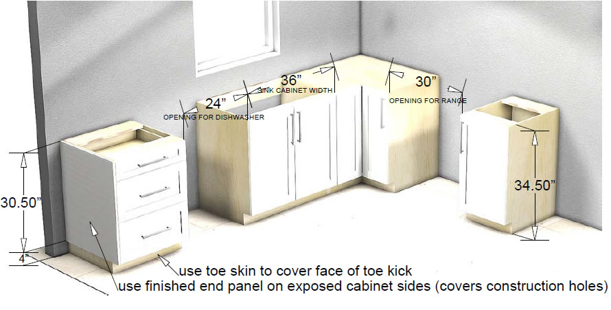 kitchen base cabinet counter materials cabinets
