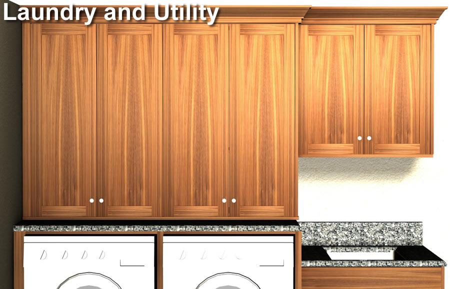 Laundry and Utility Cabinet Layout
