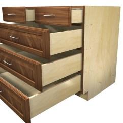 5 Drawer Kitchen Base Cabinet Wenge Wood Cabinets With Split Top