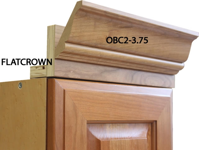 2 piece Portland crown molding with backer