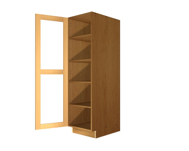 1 GLASS door pantry tall cabinet