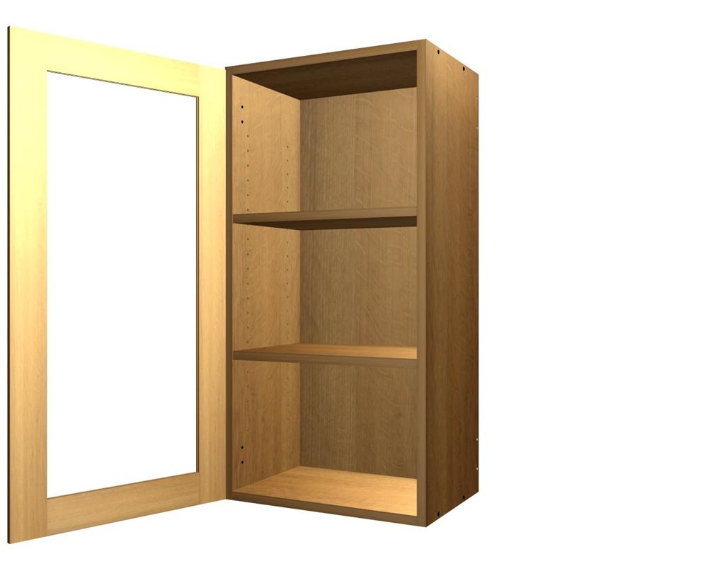 1 glass door wall cabinet