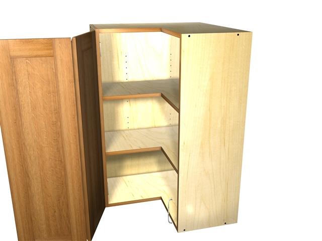 2 door 90 degree corner wall cabinet