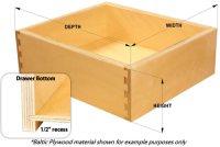 Alder Dovetail Cabinet Drawer Box
