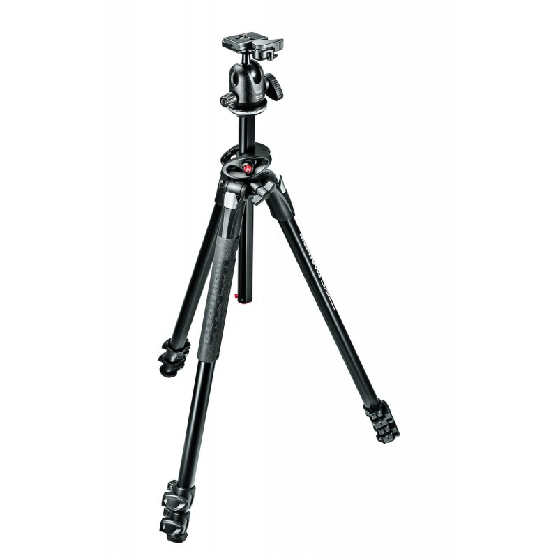 Manfrotto 290 Dual Aluminum 3-Section Tripod Kit with