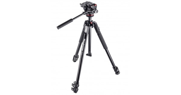 Manfrotto 190X 3 section Aluminium Tripod with Fluid 2 Way