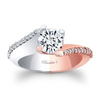 Barkev's White & Rose Gold Engagement Ring 7928LT