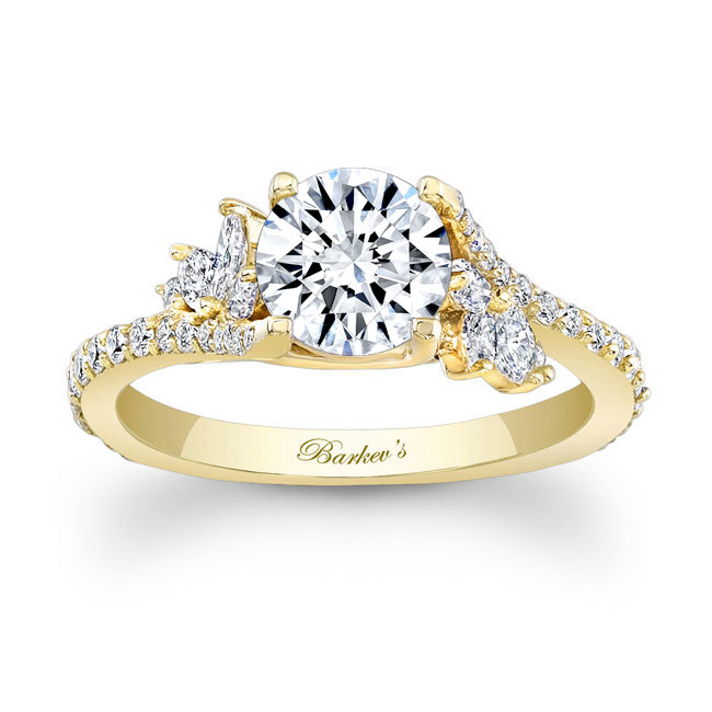 Barkevs Yellow Gold Engagement Ring 7908LY Barkevs